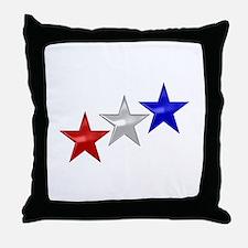 Three Shiny Stars Throw Pillow