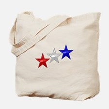 Three Shiny Stars Tote Bag