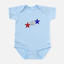 Three Shiny Stars Infant Bodysuit