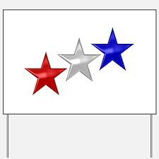 Three Shiny Stars Yard Sign