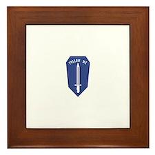 Army Infantry School Framed Tile