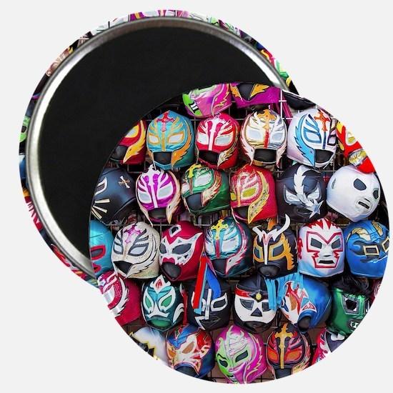 Mexican Wrestling Masks Magnet