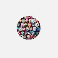 Mexican Wrestling Masks Mini Button