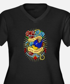 Old School Tattoo Anchor Plus Size T-Shirt