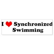 I Love Synchronized Swimming Bumper Bumper Bumper Sticker