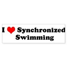 I Love Synchronized Swimming Bumper Bumper Sticker