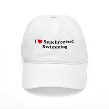 I Love Synchronized Swimming Baseball Cap