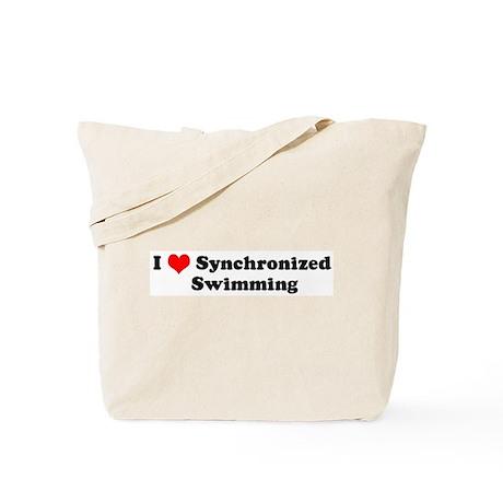 I Love Synchronized Swimming Tote Bag