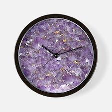 Cute Amethyst Wall Clock