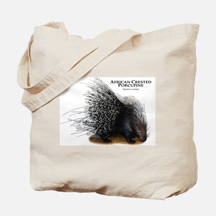 African Crested Porcupine Tote Bag