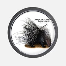 African Crested Porcupine Wall Clock