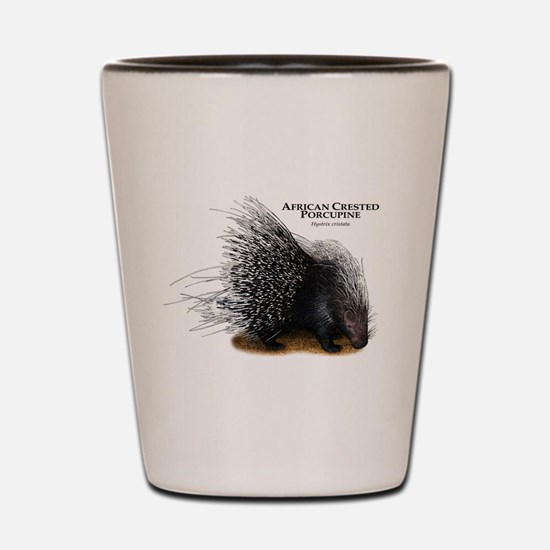 African Crested Porcupine Shot Glass