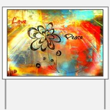 Abstract Peace Yard Sign