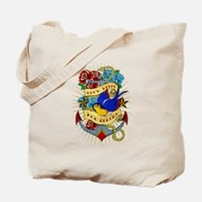 Old School Tattoo Anchor Tote Bag