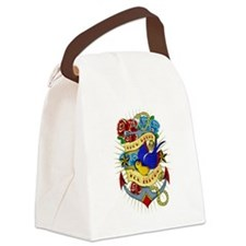 Old School Tattoo Anchor Canvas Lunch Bag