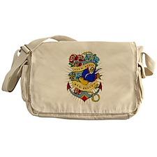 Old School Tattoo Anchor Messenger Bag
