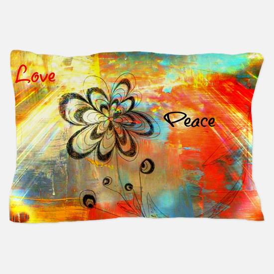 Abstract Peace Pillow Case