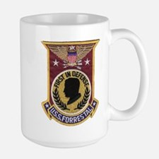 uss forrestal patch Mugs