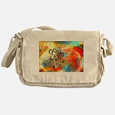 Abstract Peace Messenger Bag