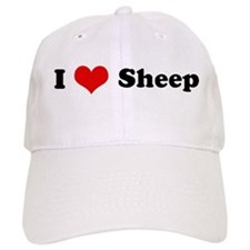 I Love Sheep Baseball Cap
