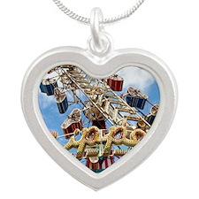 The Zipper Silver Heart Necklace