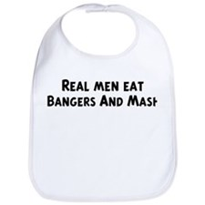 Men eat Bangers And Mash Bib