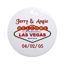 Jerry & Angie Ornament (Round)