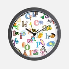 J'apprends l'alphabet francais Wall Clock