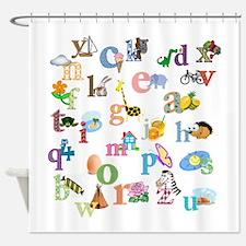 J'apprends L'alphabet Francais Shower Curtain