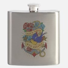Old School Tattoo Anchor Flask