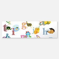 J'apprends l'alphabet francais Bumper Bumper Bumper Sticker