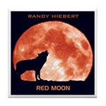 Red Moon CD Artwork Tile Coaster