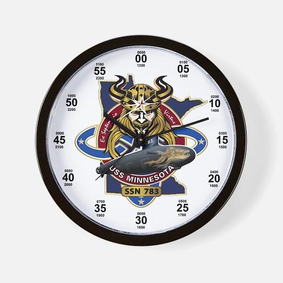 USS Minnesota SSN-783 Wall Clock