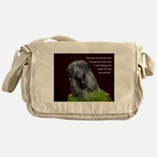 Senegal with Quote Messenger Bag