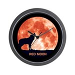 Red Moon CD Artwork Wall Clock