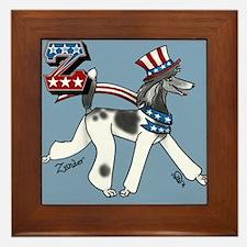 Patriotic Poodle Framed Tile