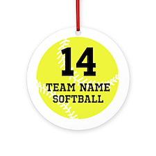 Personalize Softball Ornament (Round)