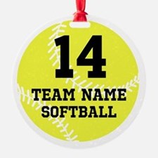 Personalize Softball Ornament