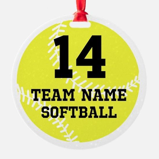 Personalize Softball Ornament