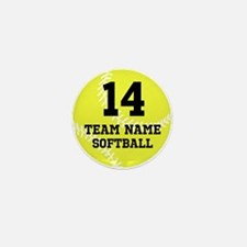 Personalize Softball Mini Button (10 pack)