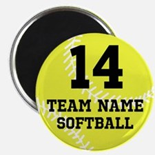 Personalize Softball Magnets