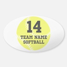 Personalize Softball Decal