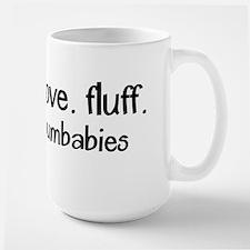 Live. Love. Fluff. Large Mug Mugs
