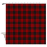 Red plaid shower cutain Shower Curtains