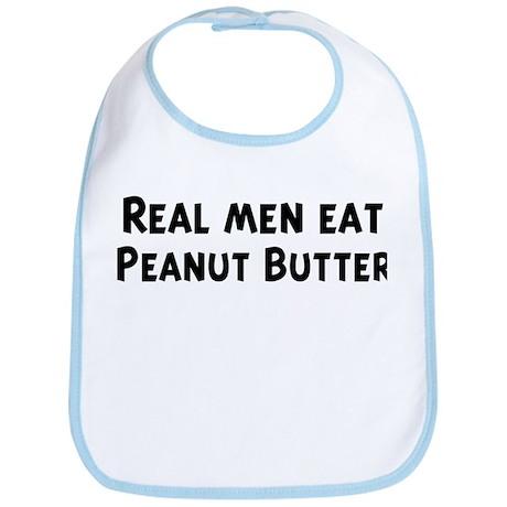 Men eat Peanut Butter Bib
