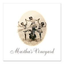 "Martha's Vineyard Square Car Magnet 3"" x 3"""