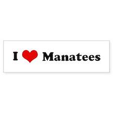 I Love Manatees Bumper Bumper Sticker