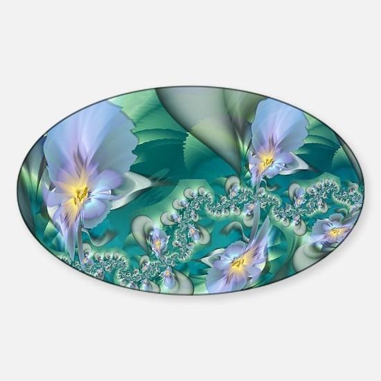 Blue Irises Sticker (Oval)