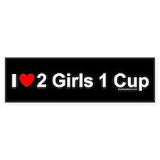 2 Girls 1 Cup Bumper Sticker