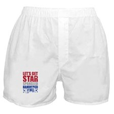 Lets Get Star Spangled Hammered Yall Boxer Shorts